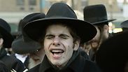 Haredi at NYC protest Photo: AFP