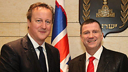Cameron with Knesset Speaker Edelstein Photo: Knesset