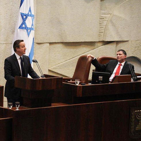 Prime Minister Cameron at the Knesset (Photo: Knesset's Spokesperson)