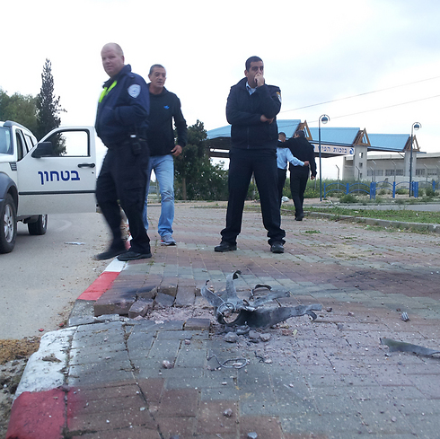 Rocket that fell in Sderot (Photo: Mattan Tzuri)
