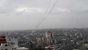 Rocket launch from Gaza, Wednesday Photo: AP