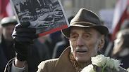Lavtian protester Photo: EPA