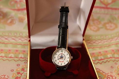 The engraved watch given to Yuditskaya from Presiden Putin (Photo: Ido Erez)