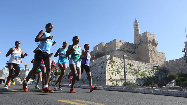 Running in the shadow of history (Photo: Gil Yohanan)