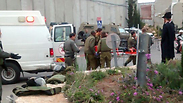 Two Border Guard officers were injured in Bethlehem Photo: Courtesy of Rachel Our Mother organization