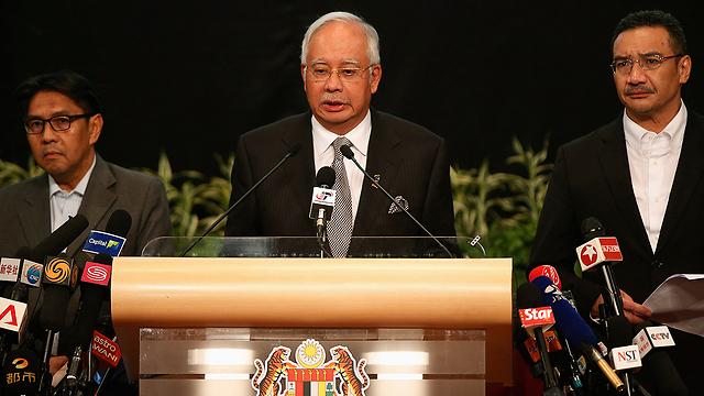 Malaysian Prime Minister Najib Razak at the press conference (Photo: Reuters)