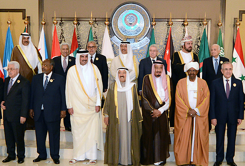 החלטה חריפה נגד ישראל. כינוס הליגה הערבית, היום (צילום: EPA)