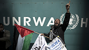 Palestinians in Gaza protest UNRWA cuts in food aide Photo: AFP