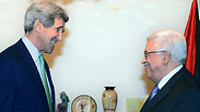 Kerry and Abbas Photo: EPA