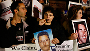 Bereaved families protest in Jerusalem. Photo: Reuters