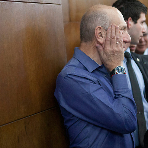 Former prime minister Ehud Olmert - Holyland verdict (Photo: Tomer Applebaum) Photo: Tomer Applebaum