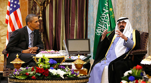 Saudi Arabia's King Abdullah and US President Barack Obama (Photo: Reuters) (Photo: Reuters)