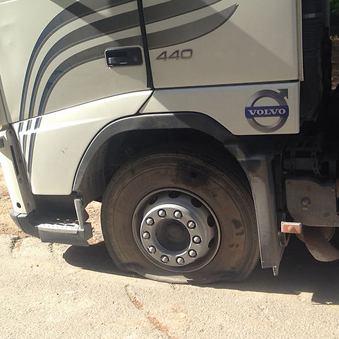 'Price Tag vandalism - slashed tire (Photo: Zayed Artul) Photo: Zayed Artul