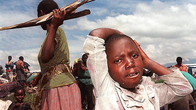 מחנה פליטים ברואנדה (צילום: AFP)