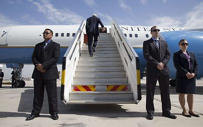 US Secretary of State John Kerry leaving Israel on Tuesday morning (Photo: AFP)