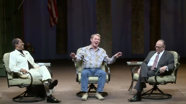 Cast of 'Camp David' on-stage