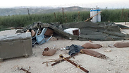 Tent used by IDF reservists after attack Photo: IDF Spokesman