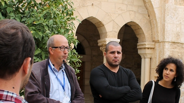 Hisham, Breaking Down Walls-coordinator Osama and -project manager Dareen (Photo: Margarita Erbach)