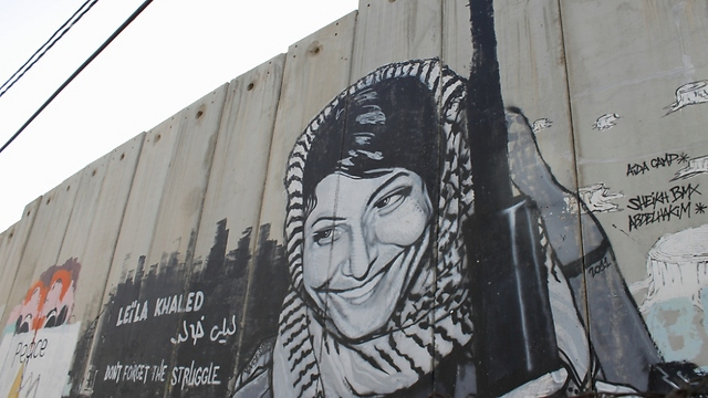 Graffiti of Leila Khaled (Photo: Margarita Erbach)