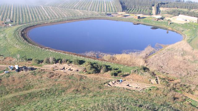 מבט מלמעלה על שטח החפירה (צילום: Skyview, באדיבות רשות העתיקות  )
