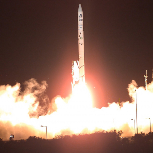 The launch of Israel's Ofek 10 satellite. (Photo: Defense Ministry)