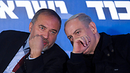 Netanyahu and Lieberman in 2013 Photo: EPA