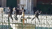 Image posted on social media reportedly showing Israeli troops during Temple Mount clashes