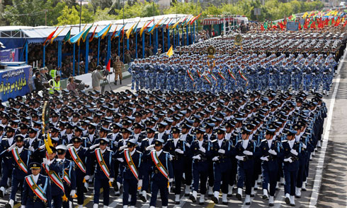 Military parade in Iran (photo: EPA)