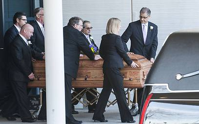 Casket of Kansas City shooting victim (Photo: AFP)