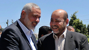 Hamas leaders Ismail Haniyeh and Moussa Abu Marzouqa Photo: Reuters