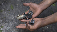 Missile fragments from IDF strike in Gaza Photo: AFP