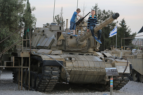One of the IDF's remaining 'Ram' tanks at Latrun museum on Tuesday (Photo: Gil Yohanan) Photo: Gil Yohanan
