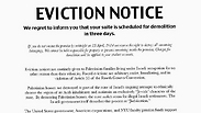 Pro-Palestinian 'eviction' fliers