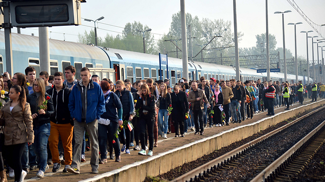 The Train of the Living leaving Budapest (Photo: Yossi Zeliger)