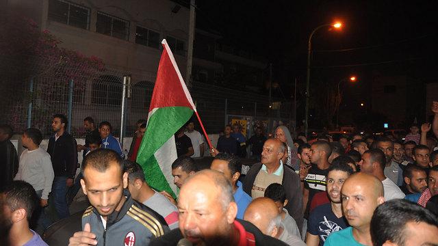 Protestors in Fureidis (Photo: George Ginzburg)