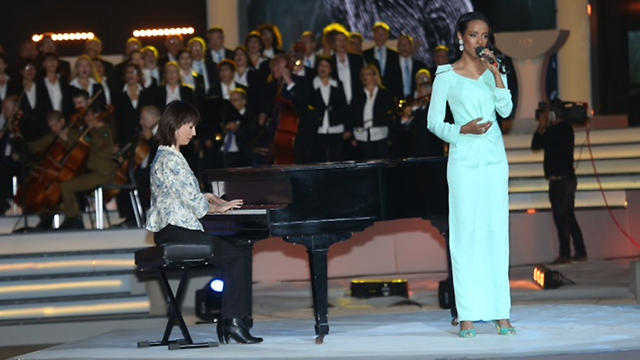 Singer Ester Rada performs at ceremony (Photo: Motti Kimchi) (Photo: Motti Kimchi)