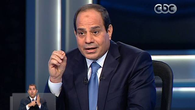 Al-Sisi in his interview with CBC. (Photo: AP) (Photo: AP)