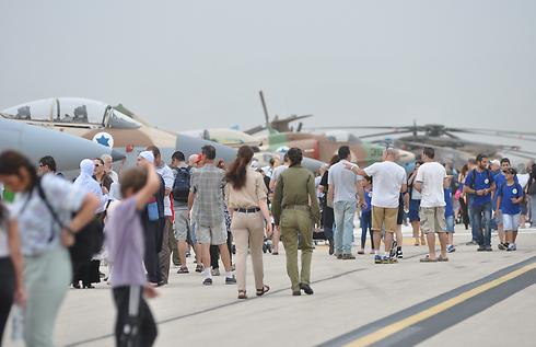 IAF aircraft exhibit at the Ramat David Air Base (Photo: George Ginsburg)