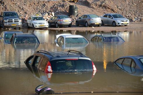 Cars parked near an Egyptian border crossing on Friday. (Photo: Yair Shagai) (Photo: Yair Shagai)