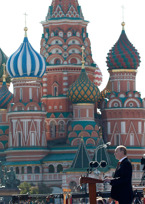 Putin addressing the crowd at Red Square (Photo: Reuters)
