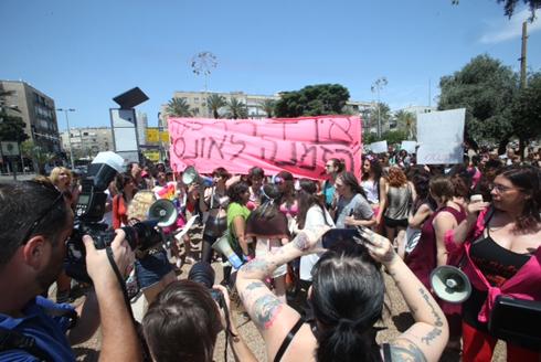 צעדה מצעד ה שרמוטות הפגנה ב כיכר רבין ב תל אביב Photo: Motti Kimchi
