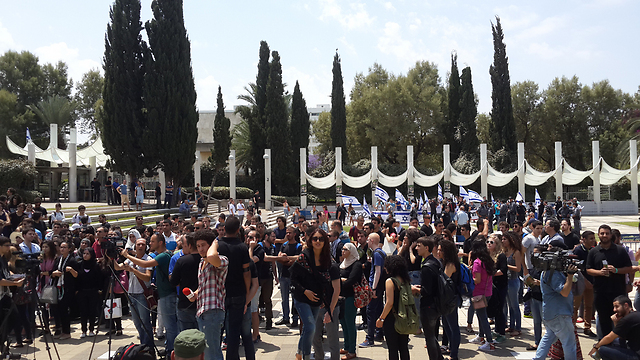 Counter-protest against Nakba rally at Tel Aviv University (Photo: Shahar Hay)
