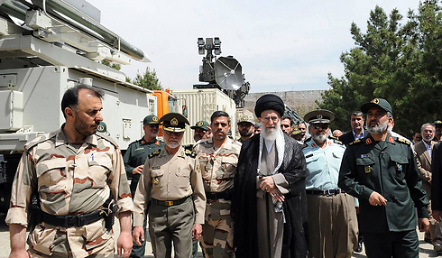 Ayatollah Ali Khamenei with top commanders in the IRGC (Photo: AFP)
