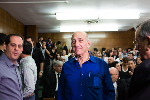 Ehud Olmert in court on Tuesday before his sentencing. (Photo: Yotam Ronen) Photo: Yotam Ronen