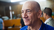 Ehud Olmert in court on Tuesday before his sentencing Photo: Yotam Ronen
