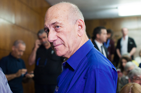 Olmert at the sentencing hearing (Photo: Yotam Ronen) (Photo: Yotam Ronen)