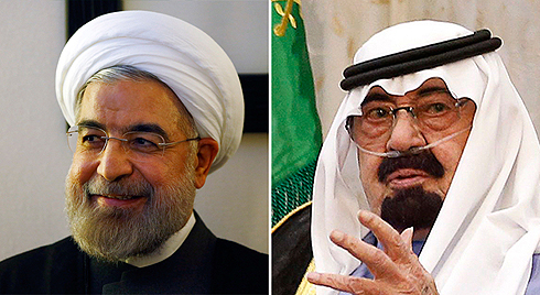 Iranian President Rouhani (left) has started cooling relations with his nemisis, Saudi Arabia's King Abdullah (right). (Photo: Reuters) (Photo: Reuters)