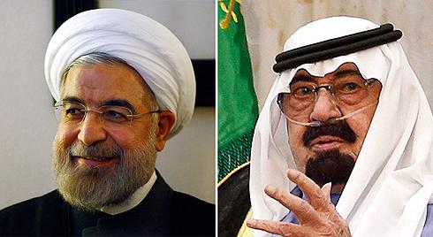 סעודיה מונעת את העלאת מחיר הנפט, איראן מפסידה מיליונים. המלך עבדאללה ורוחאני (צילום: רויטרס)