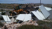 Demolition in Givat Assaf Photo: Tzpit Agency