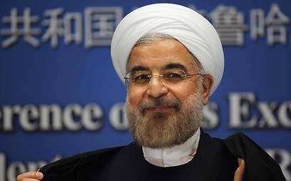 Rouhani leaving a press conference in China (Photo: Reuters) (Photo: Reuters)